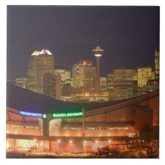 Canada, Alberta, Calgary: City Skyline from Tiles