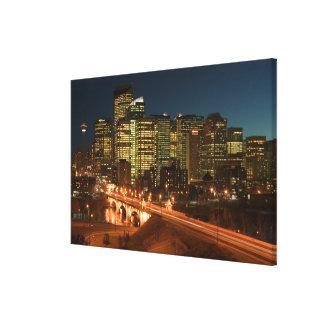 Canada, Alberta, Calgary: Downtown Calgary, Canvas Print