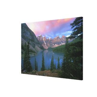 Canada, Alberta, Lake Moraine at Dawn, Banff Canvas Print