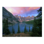 Canada, Alberta, Lake Moraine at Dawn, Banff Post Card