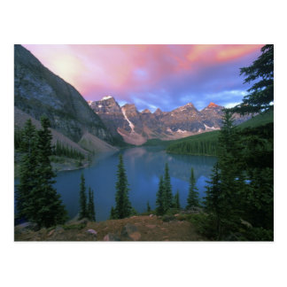 Canada, Alberta, Lake Moraine at Dawn, Banff Postcard