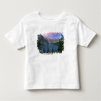 Canada, Alberta, Lake Moraine at Dawn, Banff Tee Shirts