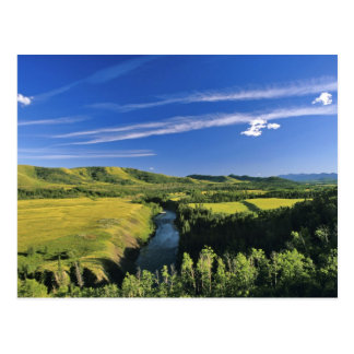 Canada, Alberta, The Highwood River Along the Postcard