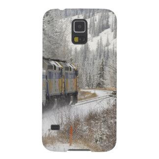 Canada, Alberta. VIA Rail Snow Train between Galaxy S5 Cases