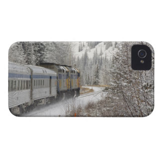 Canada, Alberta. VIA Rail Snow Train between iPhone 4 Case-Mate Cases