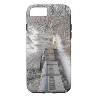 Canada, Alberta. VIA Rail Snow Train between iPhone 7 Case