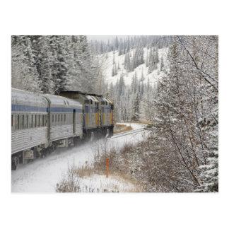 Canada, Alberta. VIA Rail Snow Train between Post Card