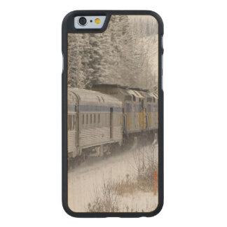 Canada, Alberta. VIA Rail Snow Train between Carved® Maple iPhone 6 Case