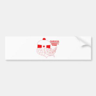 Canada -America's Cool Tuque Bumper Sticker