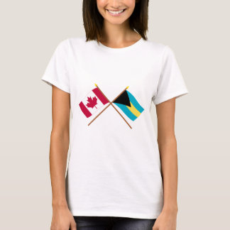 Canada and Bahamas Crossed Flags T-Shirt