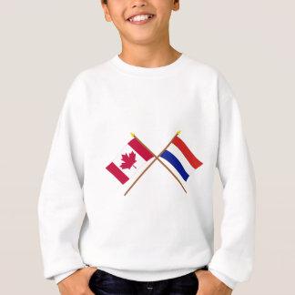 Canada and Netherlands Crossed Flags Sweatshirt