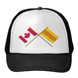 Canada and South Vietnam Crossed Flags Trucker Hat