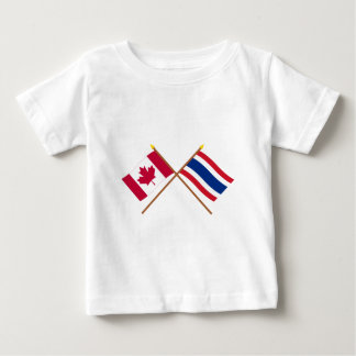 Canada and Thailand Crossed Flags Baby T-Shirt