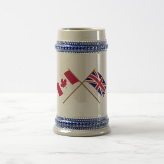 Canada and the United Kingdom Crossed Flags Beer Stein