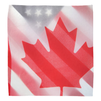 Canada and USA flags Kerchief