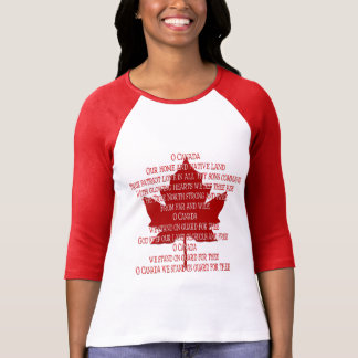 Canada Anthem Jersey Women's Souvenir Canada Shirt