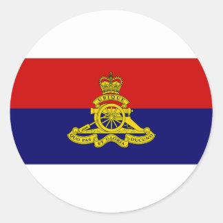 Canada Artillery Branch Camp Flag Round Sticker