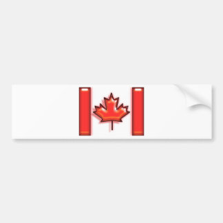 Canada (artist flag) bumper sticker
