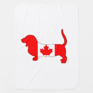 Canada Basset Hound Baby Blanket