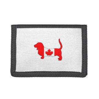 Canada Basset Hound Trifold Wallets