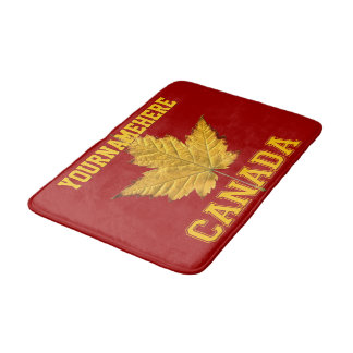 Canada Bath Mat Custom Varsity Canada Souvenir