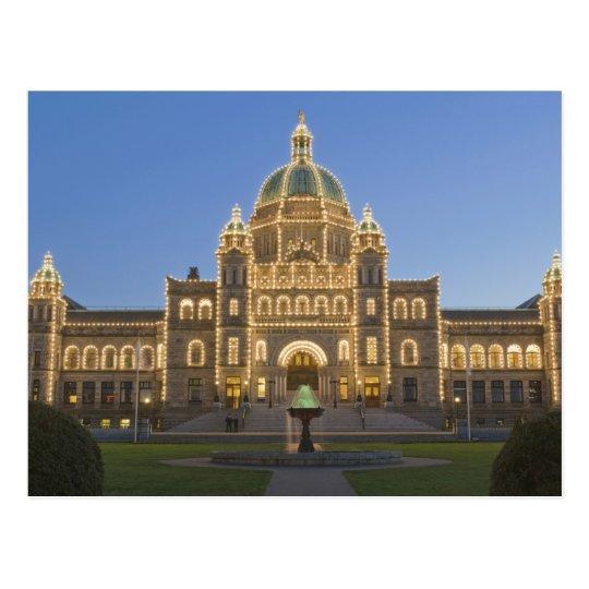 Canada Bc Victoria Bc Legislature Building At Postcard