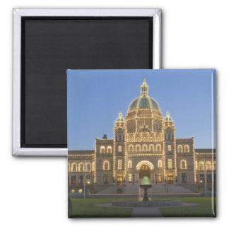 Canada, BC, Victoria, BC Legislature Building at Square Magnet