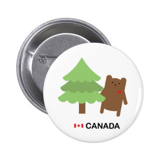 Canada Bear 2 Inch Round Button