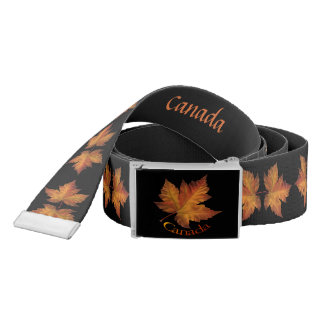 Canada Belts Personalized Canada Maple Leaf Belt