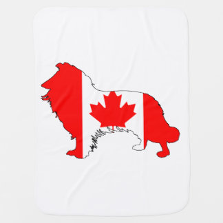 Canada Border Collie Swaddle Blankets