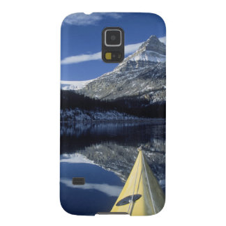 Canada, British Columbia, Banff. Kayak bow on Case For Galaxy S5