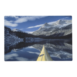 Canada, British Columbia, Banff. Kayak bow on Laminated Placemat