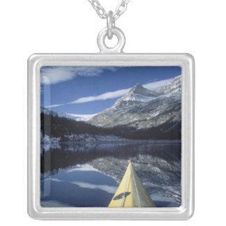 Canada, British Columbia, Banff. Kayak bow on Necklace