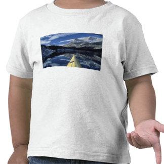 Canada, British Columbia, Banff. Kayak bow on Tshirt