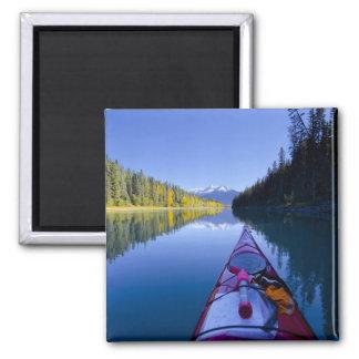 Canada, British Columbia, Bowron Lakes Square Magnet