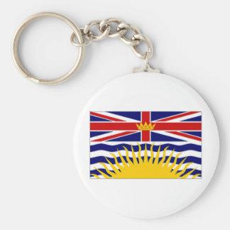 Canada British Columbia Flag Basic Round Button Keychain
