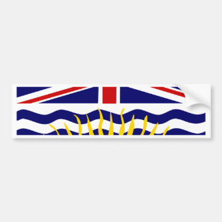 Canada British Columbia Flag Bumper Sticker