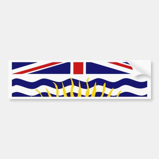 Canada British Columbia Flag Bumper Sticker