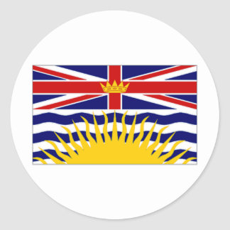 Canada British Columbia Flag Classic Round Sticker