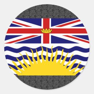 Canada British Columbia Flag Round Sticker