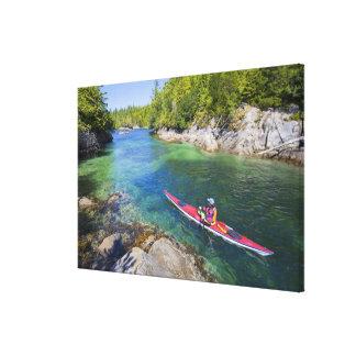 Canada, British Columbia, Vancouver Island. Sea 2 Gallery Wrapped Canvas