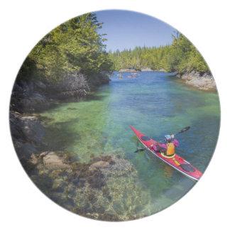 Canada, British Columbia, Vancouver Island. Sea Party Plate