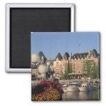 Canada, British Columbia, Victoria Empress Hotel Square Magnet