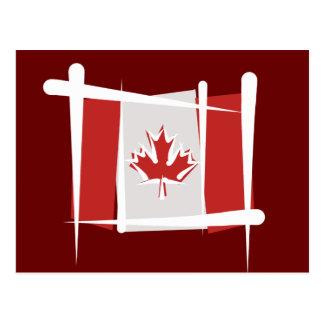 Canada Brush Flag Postcard