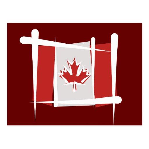 Canada Brush Flag Post Cards