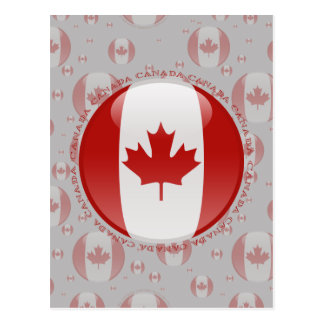 Canada Bubble Flag Postcard