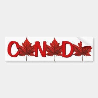 Canada Bumper Sticker Autumn Gold Maple Leaf