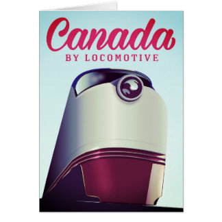 Canada By locomotive 1950s train poster Card