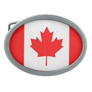 "Canada ""Canada Flag"" Belt Buckle"