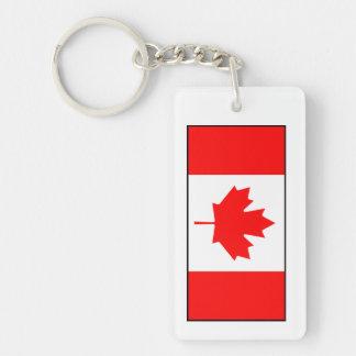Canada - Canadian Flag Double-Sided Rectangular Acrylic Keychain